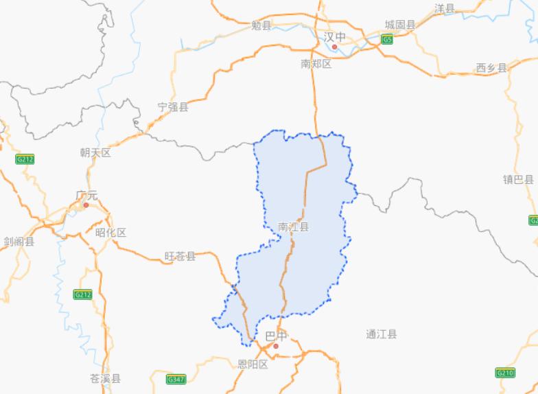 四川省南江县属于哪个市?