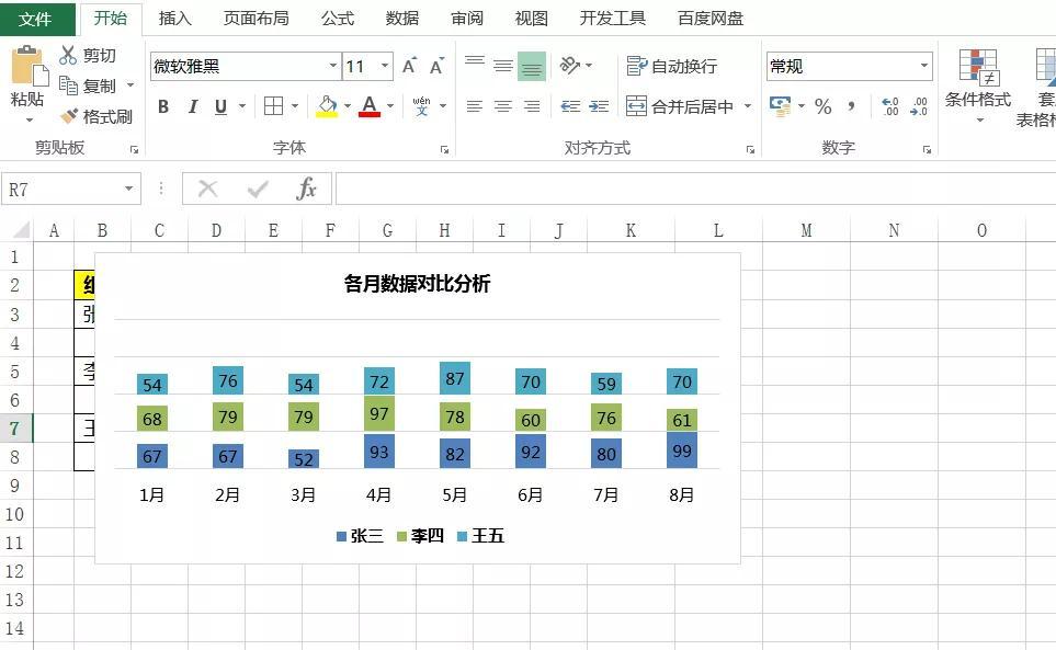 Excel多次层柱状图,让数据展示更清晰,简单五步就完成