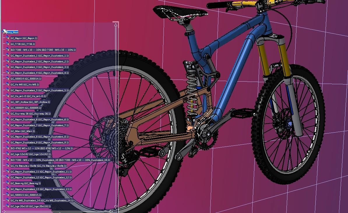 bike gey山地自动车3D数模图纸 STEP格式