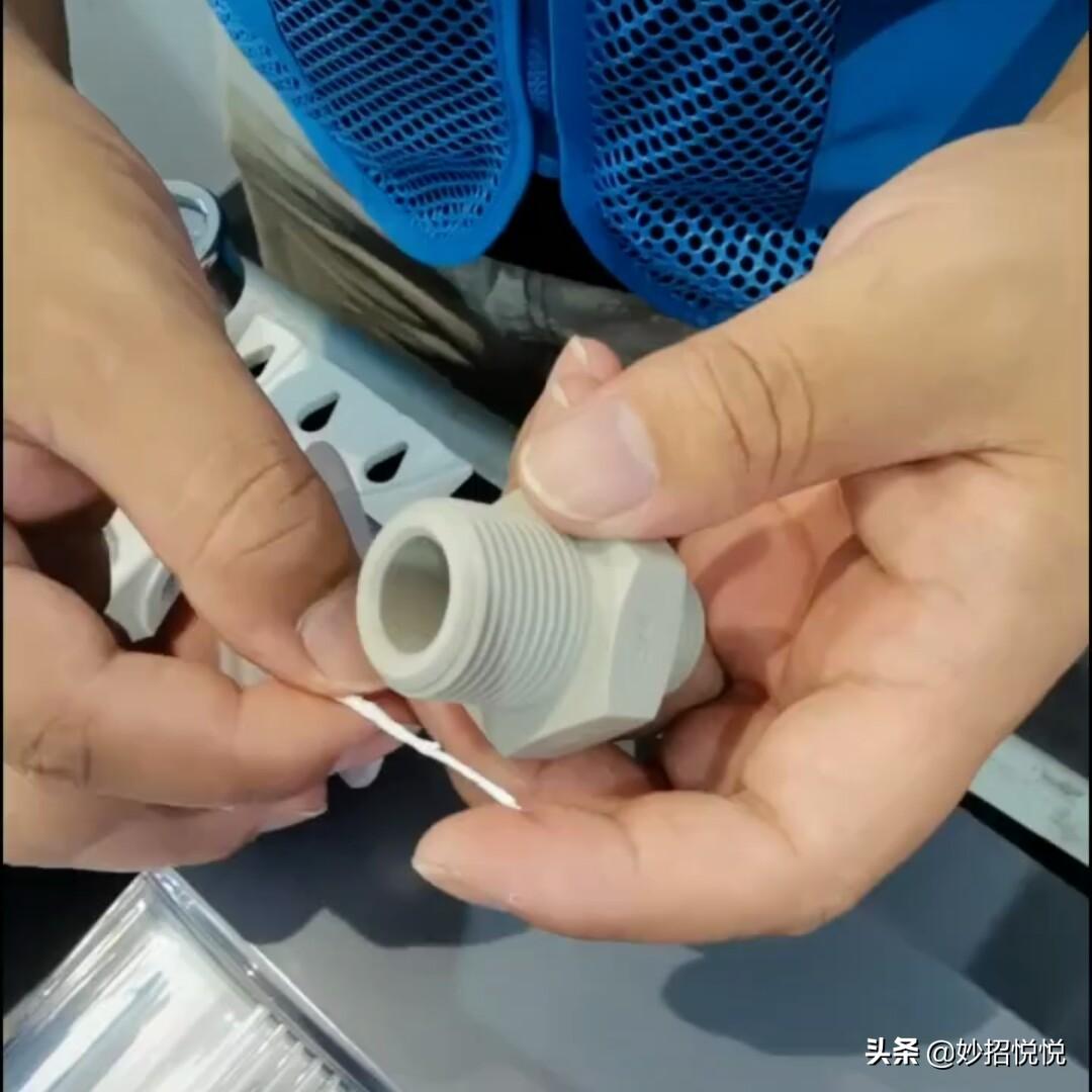 你是不是缠错了?防水生料带的正确缠绕方法,学会了赶紧试试 防水生料带缠绕方法 第5张