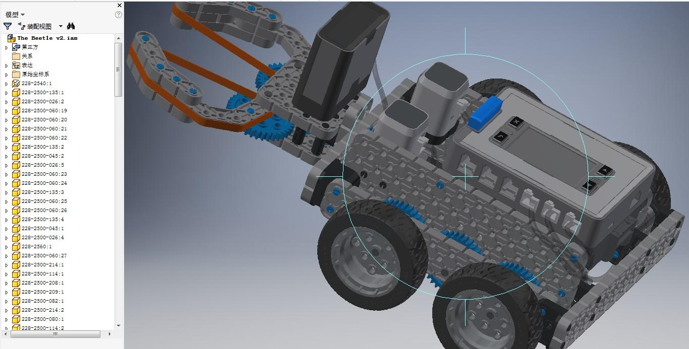 The Beetle v2拼装玩具车模型3D图纸 INVENTOR设计 附STP
