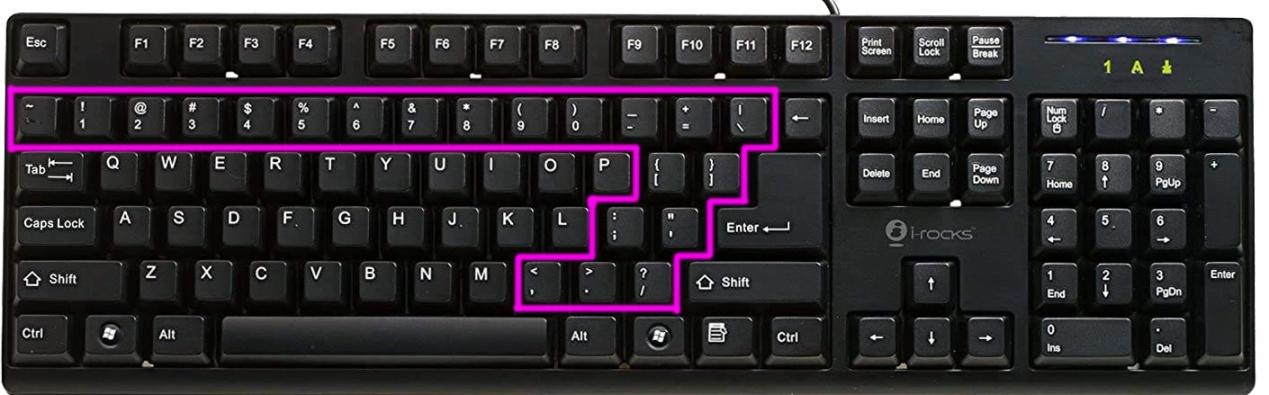键盘上的除号是哪个键(键盘上÷号是哪个键)