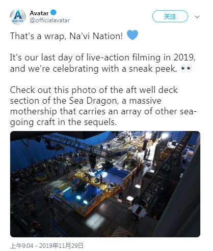 """《阿凡达2》剧组宣布已完成真人拍摄,提前放出""""海龙号""""片场照"""