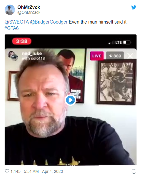 《GTA5》主角麦克演员呼吁玩家不要相信任何所谓泄密