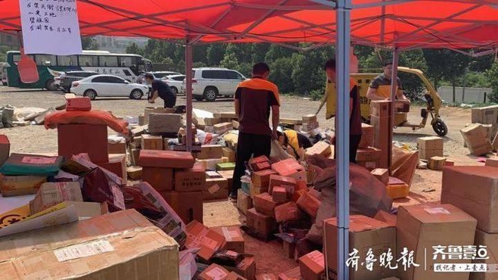 济南韵达一服务部积压大量包裹,有生鲜腐烂!韵达:损坏的可赔付