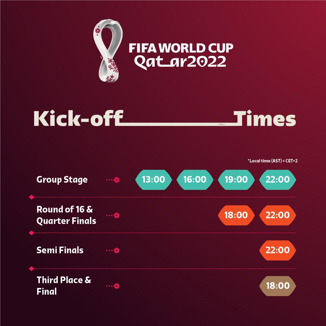 2022世界杯赛程出炉!11月21日揭幕 为期28天