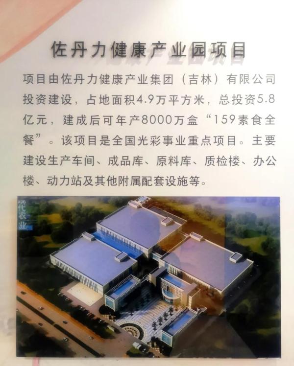 佐丹力159健康产业园项目在长春新区规划展览馆作为长春新区农业产业化代表性项目展示