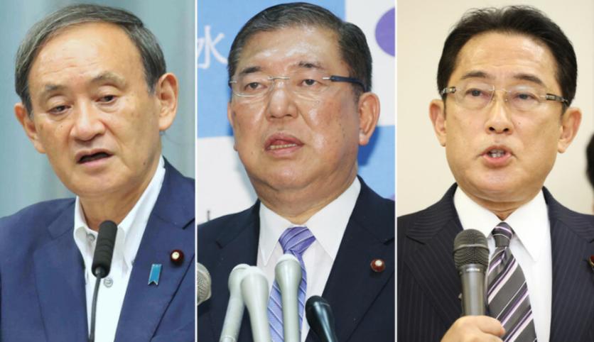 日本自民党总裁选举在即 安倍向菅义伟表达了期待