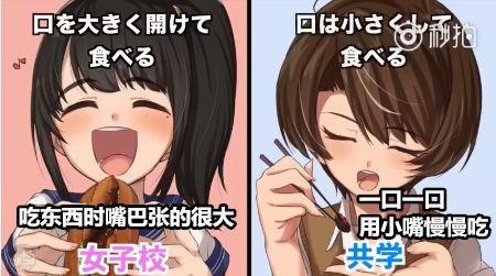 在日本念女校和男女合校的差異在哪?