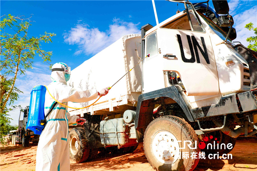 中国驻苏丹达尔富尔维和部队誓言用行动践行使命与担当