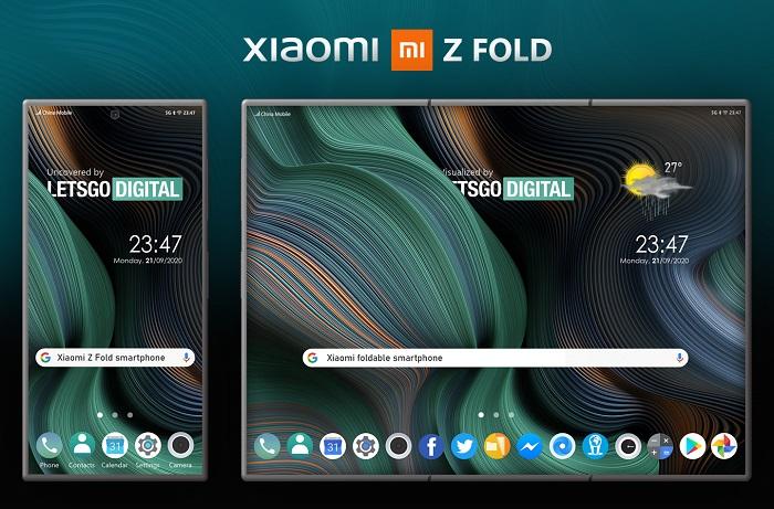 小米Z Fold三折屏智能机设计专利曝光 原创 cnBeta 2020-09-21 14:57:49 荷兰科技博客 LetsGoDigital 刚刚曝光了小米的新折叠屏智能机设计专利,可知其采用了类似
