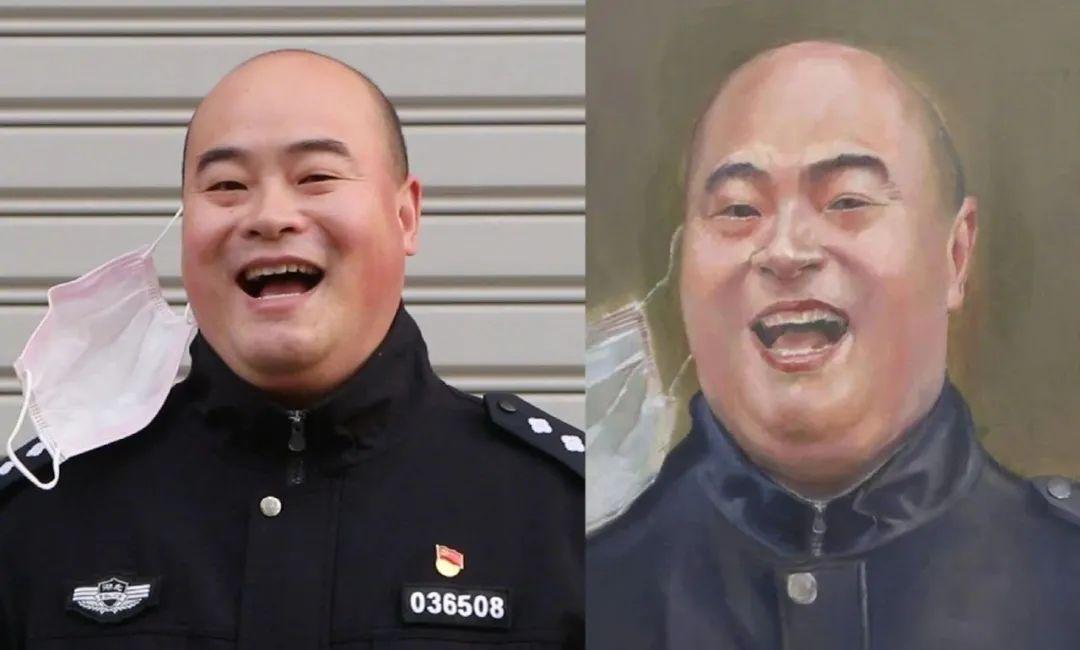 太像了!大学生为武汉抗疫民警辅警画像