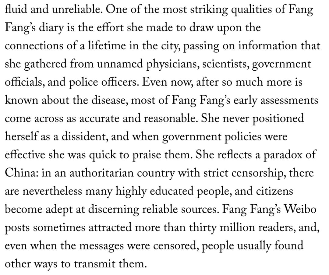 方方被《纽约客》捧成了中国的英雄,抹黑中国抗疫,恶心到家了