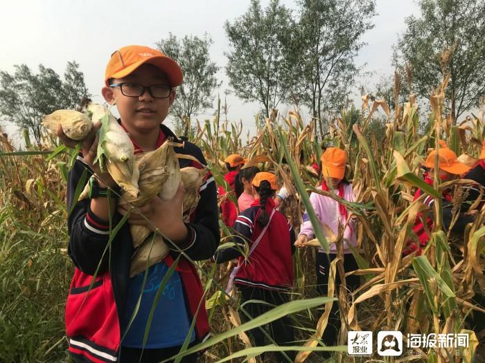 垦利区第二实验小学走进广阔田野为学生们开设劳动课