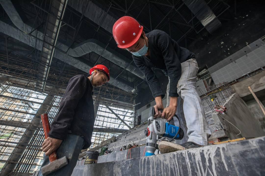 冲刺项目建设成都简阳大运会柔道场馆精装修完成85%