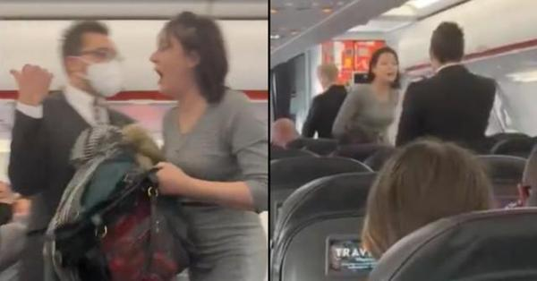 """拒戴口罩还向航班乘客吐痰,大喊""""人都死了""""英国女子被捕"""