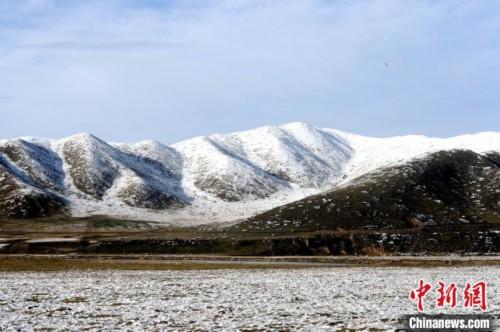 四川阿坝州红原县雪景迷人