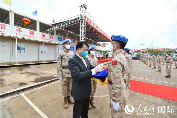 """中国第六批维和步兵营荣获联合国""""和平荣誉勋章"""""""