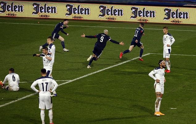 欧预赛:约维奇绝平,苏格兰6-5塞尔维亚晋级欧洲杯
