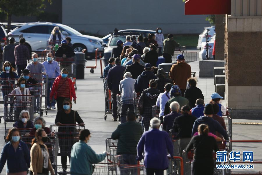 美国:加州民众超市采购