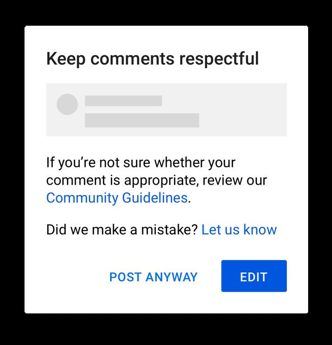 YouTube推出新功能,用于解决仇恨和攻击性言论问题