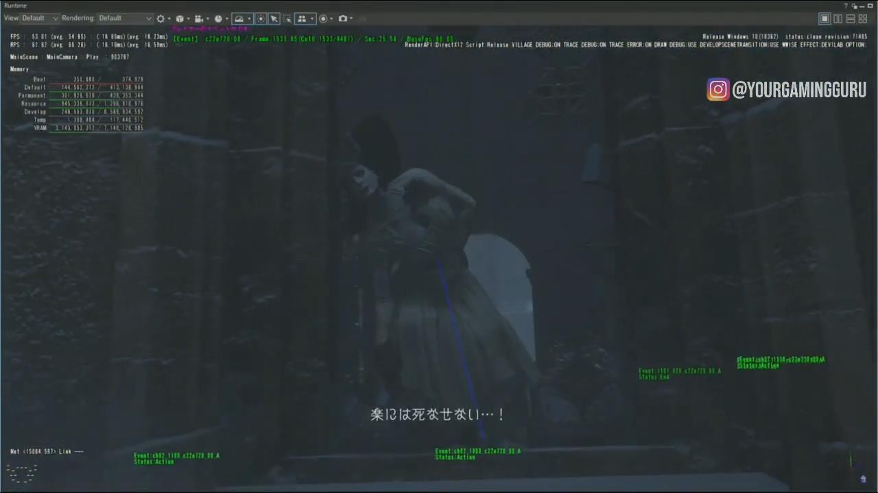 《生化危机8》内部开发版新截图泄露 解救美女米娅