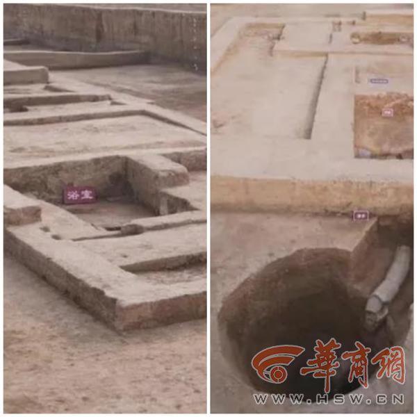 """西安阎良发现""""秦国后宫""""遗址 揭露浴室、壁炉等设施遗迹"""