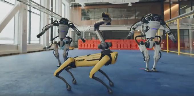 真·机械舞!波士顿动力机器人组团跳舞,battle画面令网友自愧不如