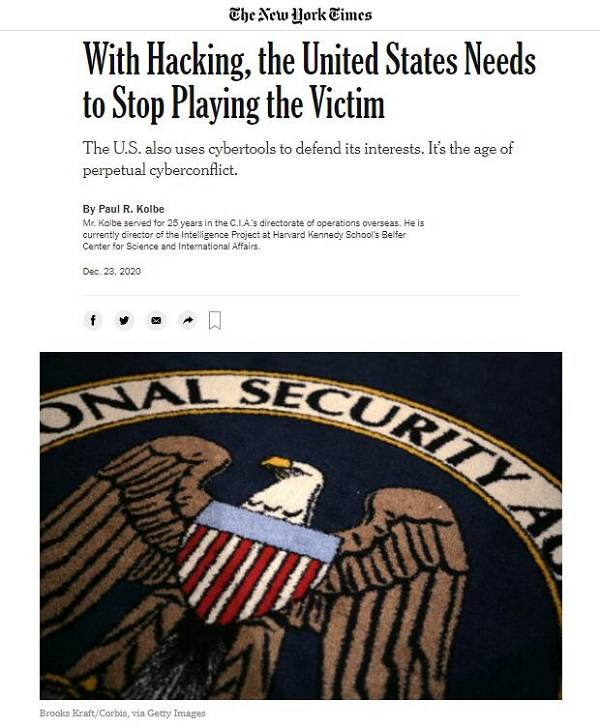 保罗·科尔伯:与其说美国是网络攻击的受害者,不如说它是最活跃的攻击者