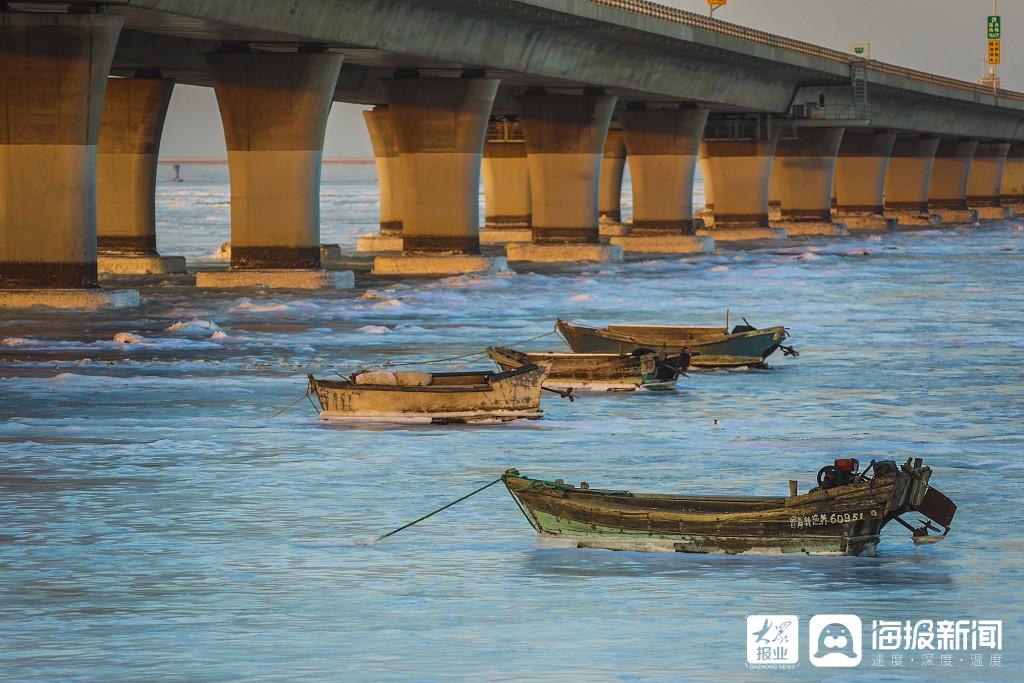 绮丽无比!青岛胶州湾大桥现金光穿桥洞景观你见过吗?