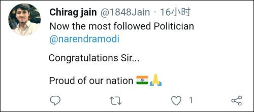 """特朗普推特账号被封后,印度媒体发现自家总理拿了个""""第一"""""""