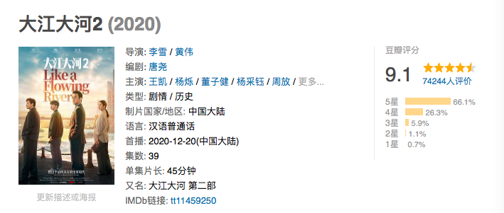 《大江大河2》豆瓣9.1高分收官,新的伏笔已埋下