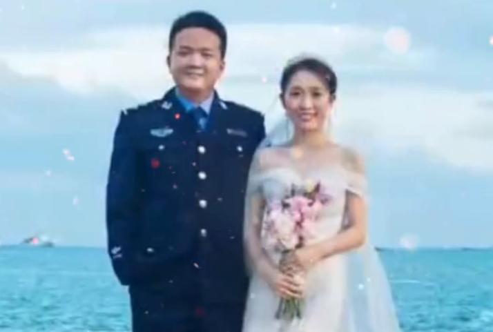 """幸福的""""改口""""!石家庄民警的手机婚礼,缺席一时承诺一世"""
