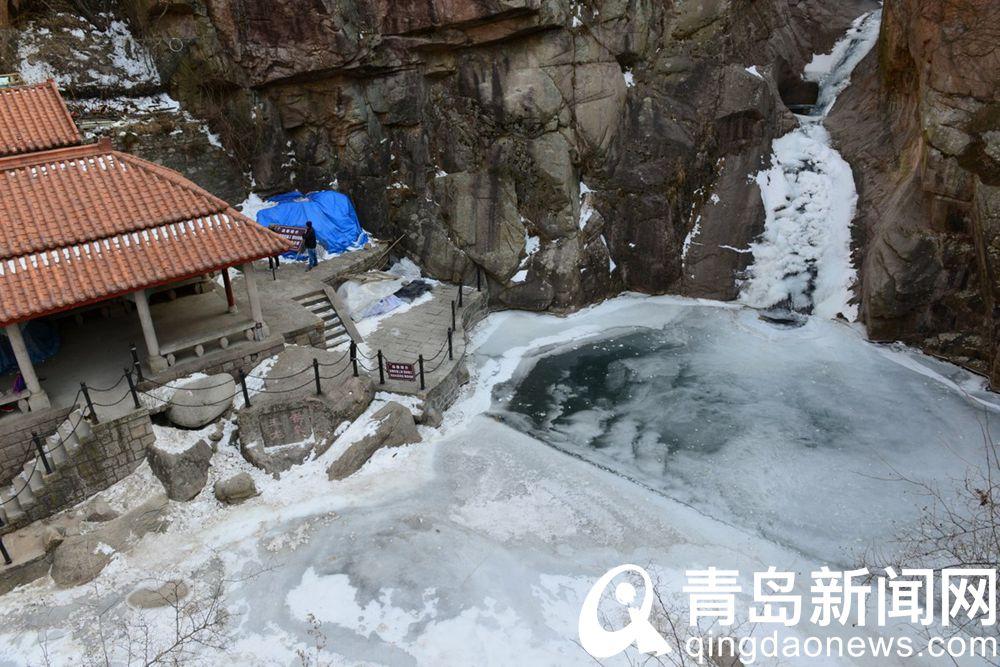 水量充足温度够低今冬崂山北九水冰瀑气派足