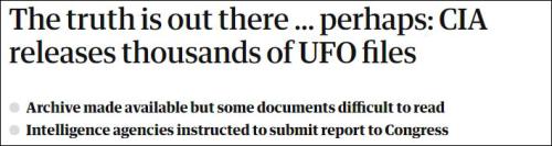 CIA一次性公布上千份UFO文件引质疑:故意让人读不明白?  CIA UFO 第1张