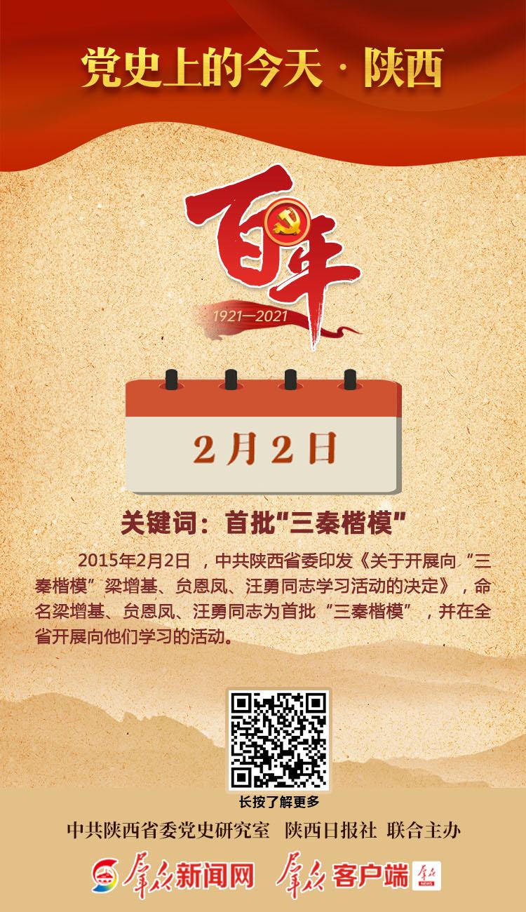 党史上的今天·陕西(2月2日)