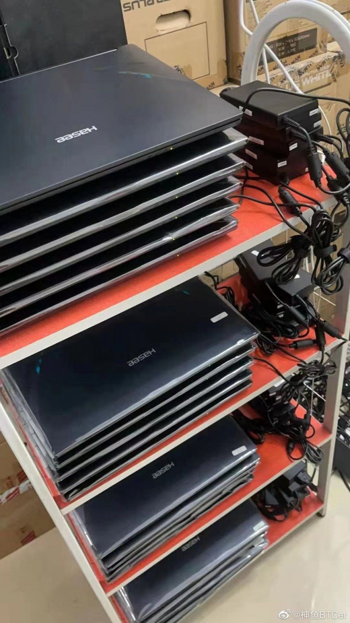 显卡供应短缺 国内矿工用40多台RTX 3070神舟笔记本挖矿