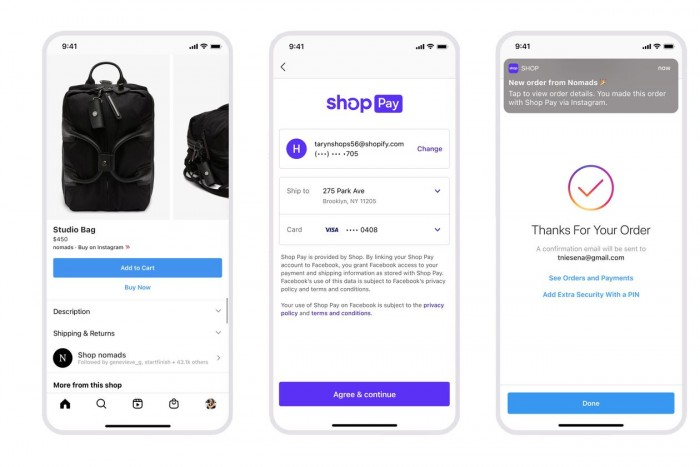 Shopify将其结账系统扩展到了Facebook和Instagram
