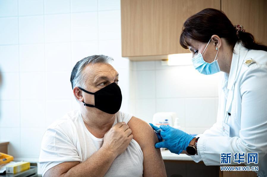 匈牙利总理欧尔班接种了针对中国新冠肺炎的疫苗