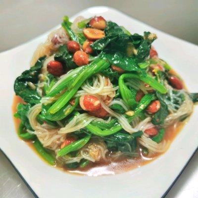 粉丝菠菜(家常小菜5分钟快手美食) 美食做法 第8张