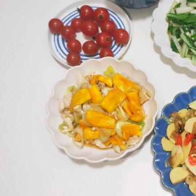 吃过都说好的菠萝蜜鸡胸肉 美食做法 第5张