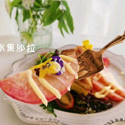 香煎鸡胸蔬果双拼沙拉#321沙拉日# 美食做法 第10张