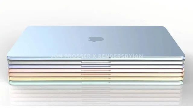 多彩MacBook Air渲染图曝光,iPhone 13系列摄像头凸起程度将增加