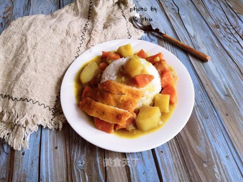 咖喱鸡排饭:自己学会做,一次吃到爽 美食做法 第12张