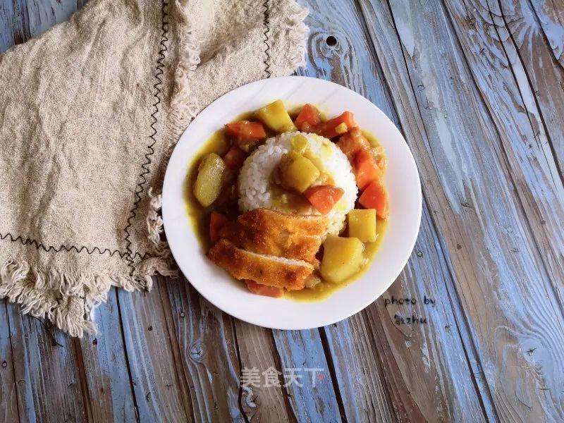 咖喱鸡排饭:自己学会做,一次吃到爽 美食做法 第13张