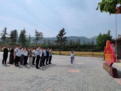 鄭州科技學院圖書館組織黨員赴豫西抗日根據地紀念館開展黨史學習教育
