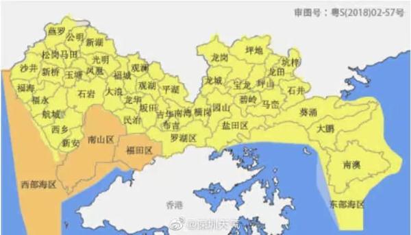 深圳分区暴雨橙色预警生效中,暴雨防御要关注