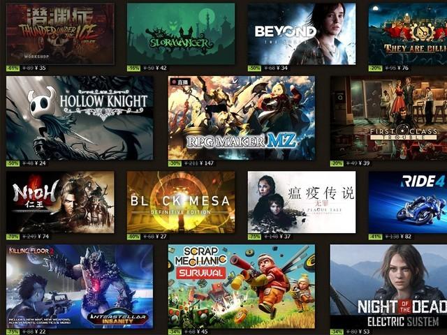 Steam夏促游戏内卷降价 60元就有一大堆好游戏