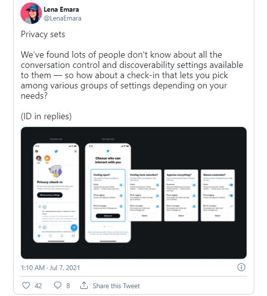 Twitter围绕新的隐私功能分享其想法 包括从搜索中隐藏用户账户的方法