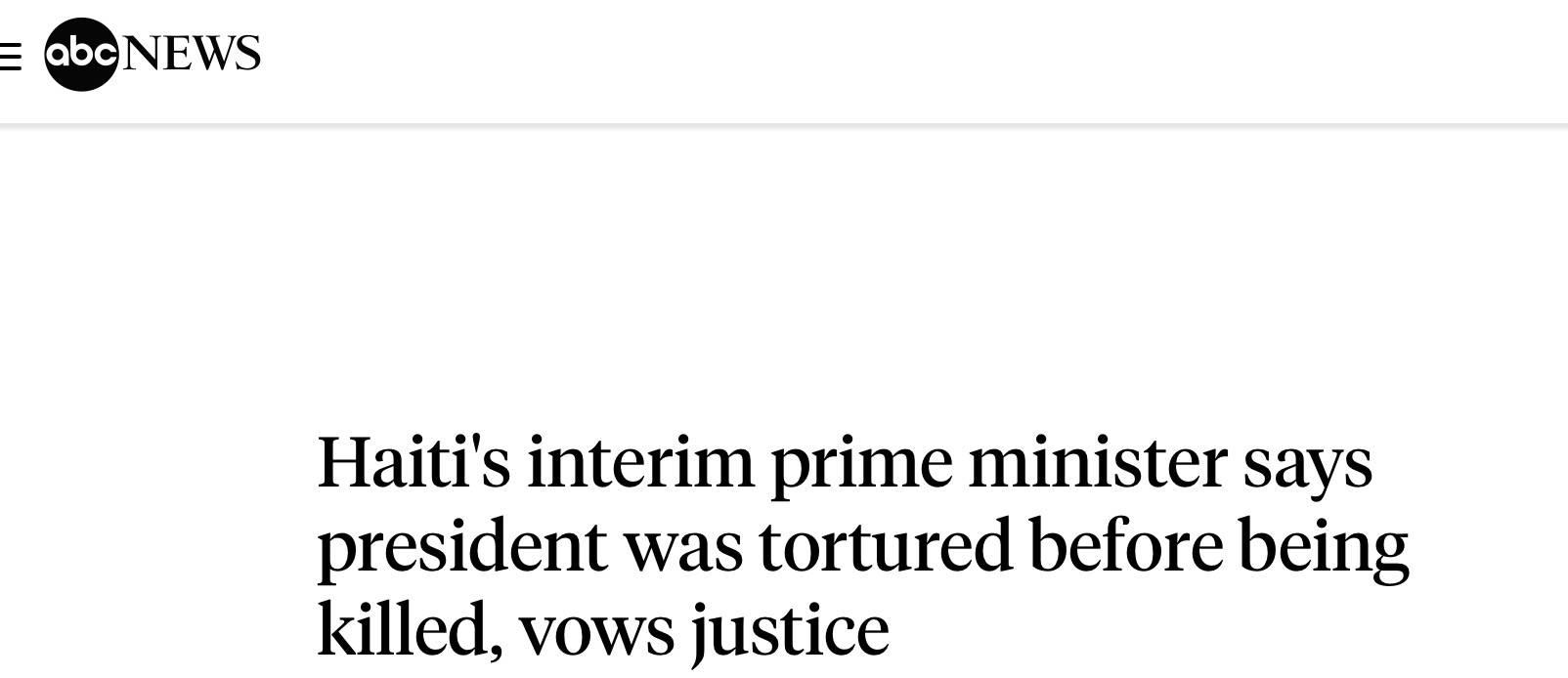 海地总统被刺杀前曾遭酷刑 海地总统死亡真相今日消息
